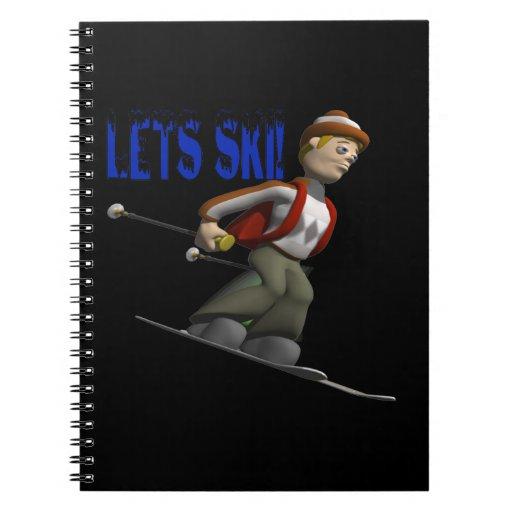 Deja el esquí libreta