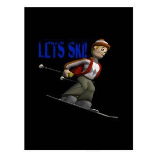 Deja el esquí postales