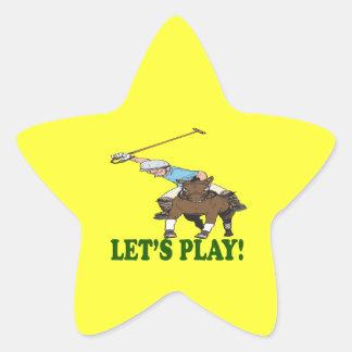 Deja el juego 2 pegatina en forma de estrella