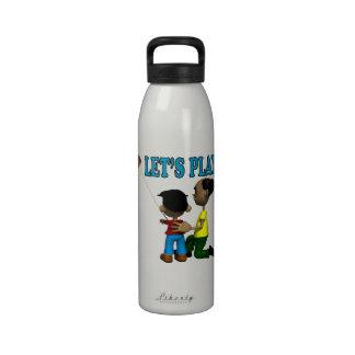 Deja el juego botella de agua reutilizable