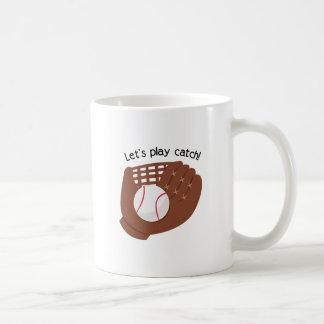 Deja el juego coger taza básica blanca
