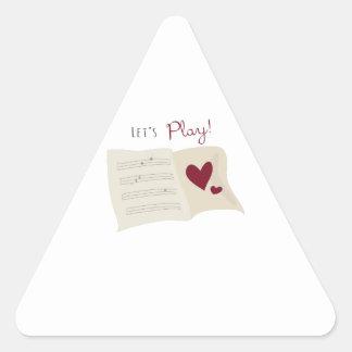Deja el juego pegatina triangular