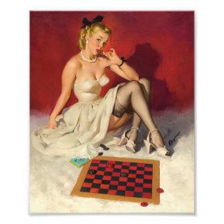 Deja el juego un juego - chica modelo retro fotografía