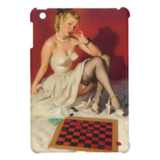 Deja el juego un juego - chica modelo retro iPad mini cárcasas