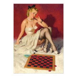 Deja el juego un juego - chica modelo retro anuncio