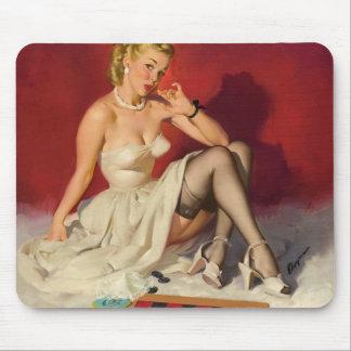 Deja el juego un juego - chica modelo retro tapetes de ratón
