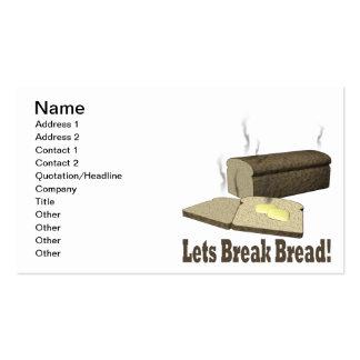 Deja el pan de la rotura tarjeta de visita