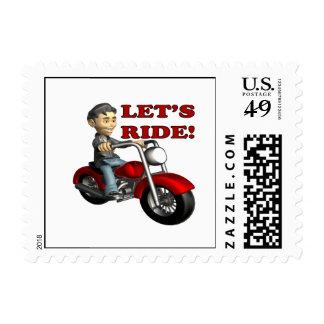 Deja el paseo 5 timbre postal