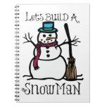 Deja estructura un hombre de la nieve cuaderno