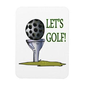 Deja golf imán de vinilo