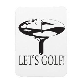 Deja golf imanes de vinilo