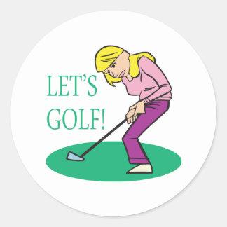 Deja golf pegatina redonda