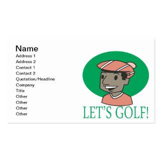 Deja golf tarjetas de visita