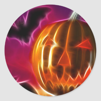 Deja Halloween Pegatina Redonda