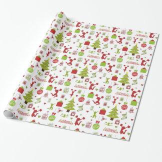 Deja la alegría para el papel de embalaje del papel de regalo