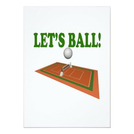 Deja la bola 2 invitación 12,7 x 17,8 cm