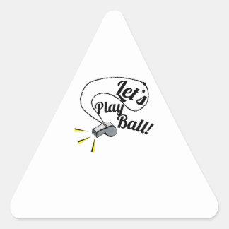 Deja la bola del juego pegatina triangular