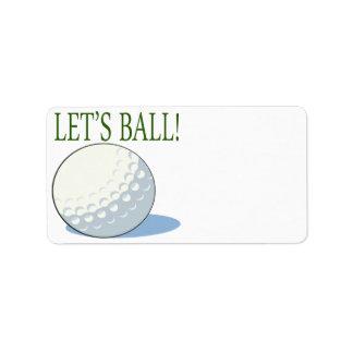 Deja la bola etiqueta de dirección