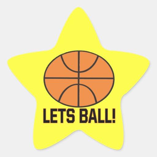 Deja la bola colcomanias forma de estrellaes