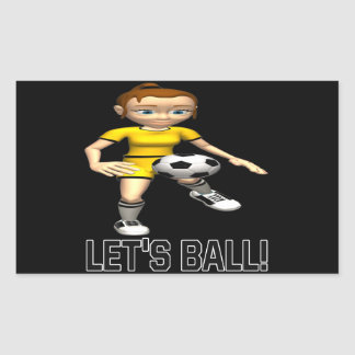 Deja la bola pegatina rectangular