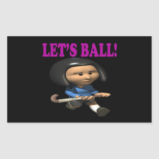 Deja la bola rectangular pegatina