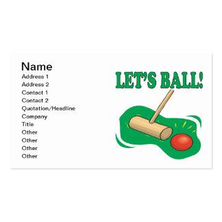 Deja la bola tarjeta personal