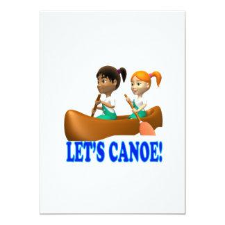 """Deja la canoa 2 invitación 5"""" x 7"""""""