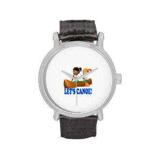 Deja la canoa 2 reloj de mano