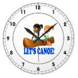 Deja la canoa 2 reloj de pared
