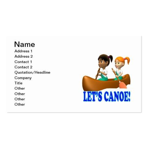 Deja la canoa 2 tarjeta de visita