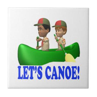 Deja la canoa azulejo cuadrado pequeño