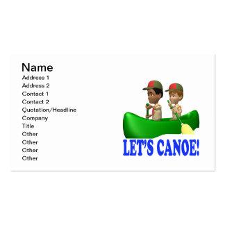 Deja la canoa tarjeta de negocio
