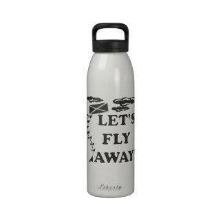 Deja la mosca ausente botella de agua reutilizable
