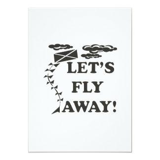 """Deja la mosca ausente invitación 5"""" x 7"""""""