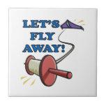 Deja la mosca lejos 2 tejas  cerámicas
