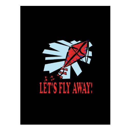 Deja la mosca lejos 4 postal