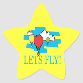 Deja la mosca pegatina en forma de estrella