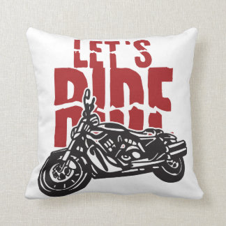 Deja la motocicleta del paseo diseñar cojín