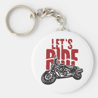 Deja la motocicleta del paseo diseñar llaveros personalizados