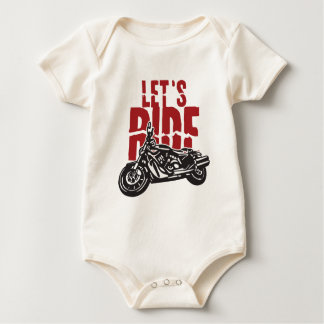 Deja la motocicleta del paseo diseñar mamelucos de bebé