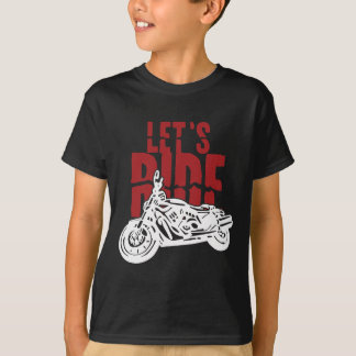 Deja la motocicleta del paseo diseñar playera