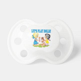 Deja las muñecas del juego chupetes de bebe