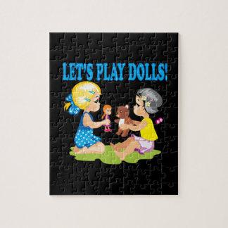 Deja las muñecas del juego puzzle con fotos