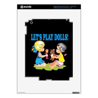 Deja las muñecas del juego iPad 3 pegatinas skins