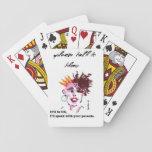 Deja las tarjetas del juego, caras divertidas