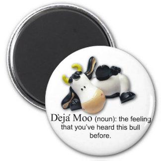 Deja Moo 2 Inch Round Magnet
