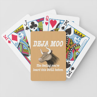 Deja Moo Humor Bicycle Playing Cards