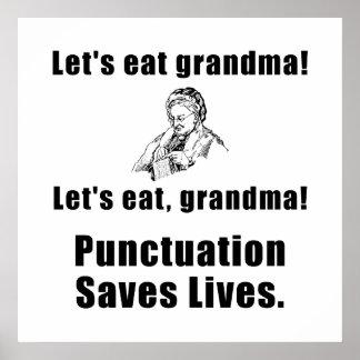 Deja para comer a la abuela póster
