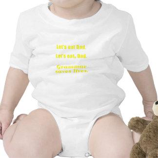 Deja para comer al papá que la gramática ahorra vi traje de bebé