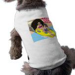 Deja para conseguir 2 mojados camisetas de perro